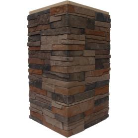 Плитка декоративная Хайлэнд угловая, цвет тёмно-коричневый, 1.04 мп