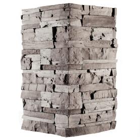 Плитка декоративная Фьорд Лэнд угловая, цвет чёрно-серый, 1.8 мп