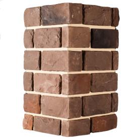 Плитка декоративная Шеффилд угловая, цвет тёмно-коричневый, 3.52 мп