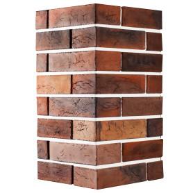 Плитка декоративная Терамо Брик II угловая, цвет махагон коричневый, 2.77 мп