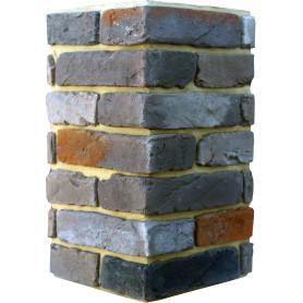 Плитка декоративная Тироль Брик угловая, цвет кофейный, 1.25 мп