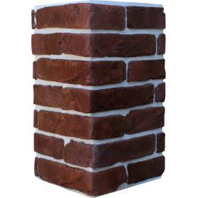 Плитка декоративная Тироль Брик угловая, цвет ярко-красный, 1.25 мп