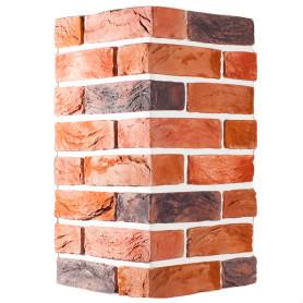 Плитка декоративная Торн Брик угловая, цвет медный, 2.62 мп