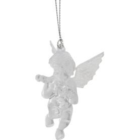 Украшение новогоднее «Ангел малый со скрипкой», пластик, цвет прозрачный