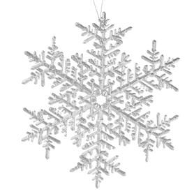 Украшение новогоднее «Снежинка большая», пластик, цвет серебро матовое