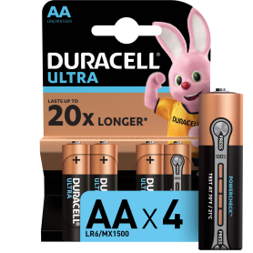 Батарейка алкалиновая Duracell Ultra AA/LR6 4 шт
