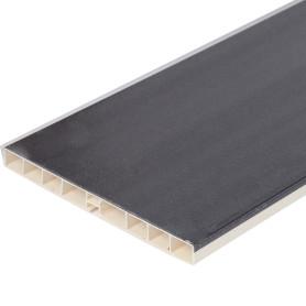 Цоколь для кухни 240x15 см, ПВХ, цвет чёрный