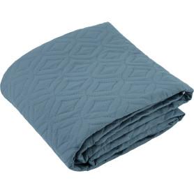 Покрывало «Melissa», 200х220 см, тафта стёганая, цвет синий/горчичный