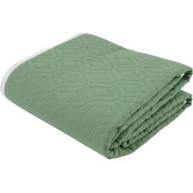 Покрывало «Melissa», 200х220 см, тафта стёганая, цвет светло-зелёный/зелёный
