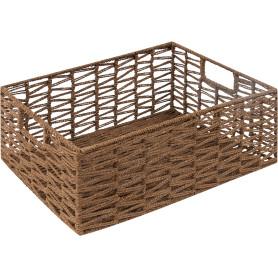 Корзина мягкая «Ажурная», 390x290x150 мм, 16 л, бамбук, цвет коричневый