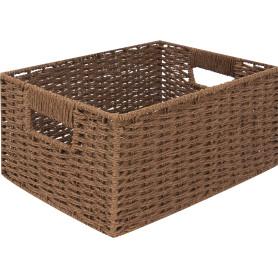 Корзина мягкая, 310x230x150 мм, 10 л, бамбук, цвет коричневый