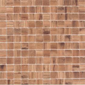 Мозаика стеклянная Wood №4201 31.7x31.7 см цвет дуб