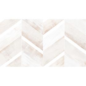 Плитка настенная «Блю шеврон Полосы» 1.46 м² 25x45 см цвет бежевый