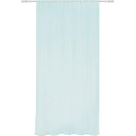 Тюль на ленте, 140x260 см, однотон, цвет голубой