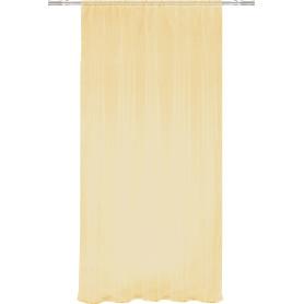 Тюль на ленте, 140x260 см, однотон, цвет золотой