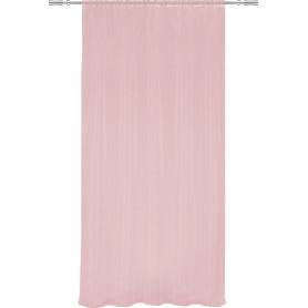Тюль на ленте, 140x260 см, однотон, цвет розовый