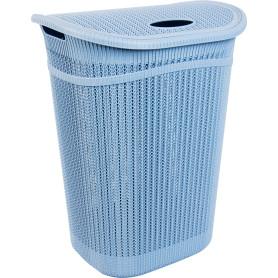 Корзина для белья Вязание 55 л цвет синий