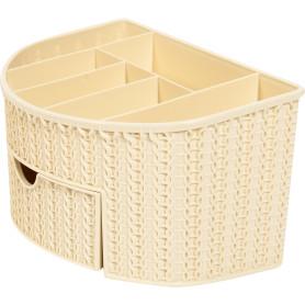 Органайзер для ванной комнаты «Вязание» цвет слоновая кость