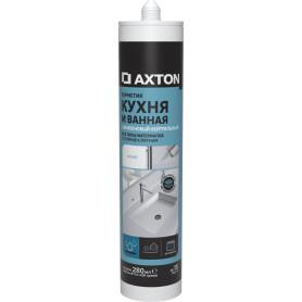 Герметик нейтральный для кухни/ванной Axton, белый 280 мл