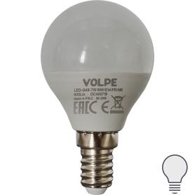 Лампа светодиодная Volpe Norma E14 220 В 7 Вт шар 600 лм холодный белый свет