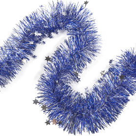 Мишура «Звёздочка», 100 см, цвет синий