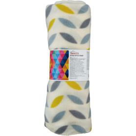 Плед «Scandi», 130х170 см, флис, цвет жёлтый