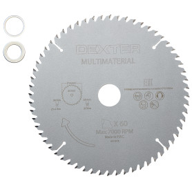 Диск пильный универсальный Dexter FD-E052163060T, 216x30 мм, 60 Т