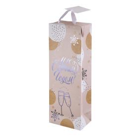 Пакет подарочный «Бокалы» 13x35 см