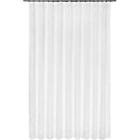 Тюль на ленте «Лепестки», 250x260 см, цветы, цвет белый