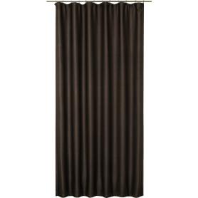 Штора на ленте «Барна», 260х160 см, однотон, цвет коричневый