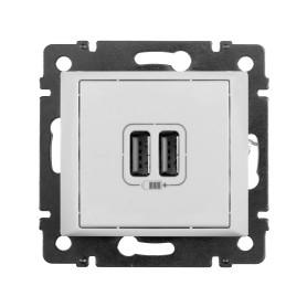 Розетка USB встраиваемая Legrand Valena, цвет белый