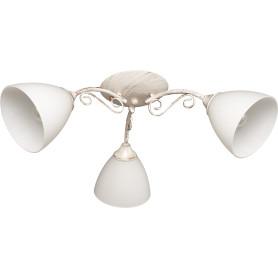 Люстра потолочная Gloria 1110, 3 лампы, 9 м², цвет белый