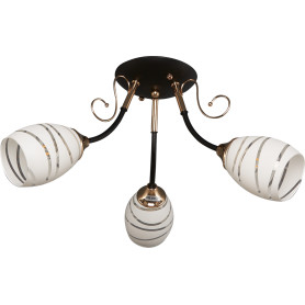 Люстра потолочная Camila 1112, 3 лампы, 9 м², цвет чёрный