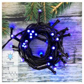 Электрогирлянда наружная «Нить» 6.5 м 50 LED синий