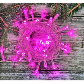 Электрогирлянда комнатная «Нить» 5.5 м 50 LED фиолетовый