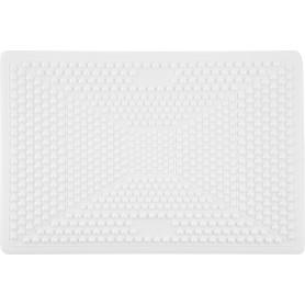 Коврик для ванной комнаты противоскользящий 40х60 см цвет белый