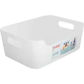 Корзина Scandi, 240х170х90 мм, 3.1 л, пластик, цвет белый