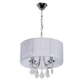 Люстра хрустальная подвесная «Жаклин», 4 лампы, 8 м², цвет белый