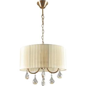 Люстра хрустальная подвесная «Жаклин», 4 лампы, 8 м², цвет бежевый