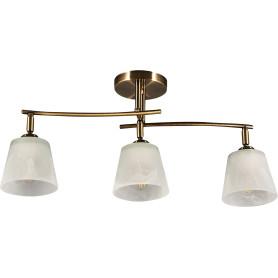 Люстра потолочная «Тетро», 3 лампы, 6 м², цвет золото