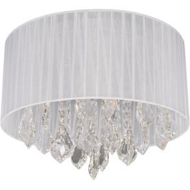 Люстра хрустальная потолочная «Жаклин», 4 лампы, 8 м², цвет белый