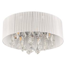 Люстра хрустальная потолочная «Жаклин», 6 ламп, 12 м², цвет белый