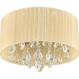 Люстра хрустальная потолочная «Жаклин», 4 лампы, 8 м², цвет бежевый