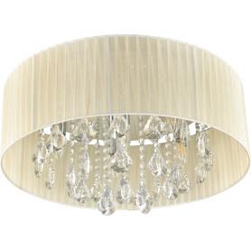 Люстра хрустальная потолочная «Жаклин», 6 ламп, 12 м², цвет бежевый