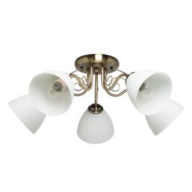 Люстра потолочная «Грация», 5 ламп, 10 м², цвет белый