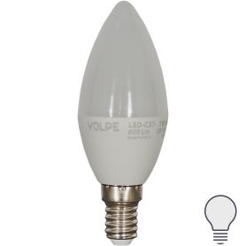 Лампа светодиодная Volpe Norma E14 220 В 7 Вт свеча 600 лм, белый свет