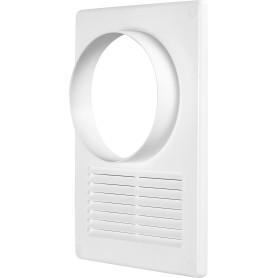 Решётка вентиляционная с фланцем, D120 мм, 170х240 мм, цвет белый