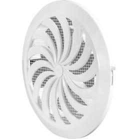 Решётка вентиляционная с фланцем, D100/150 мм, 180 мм, цвет белый