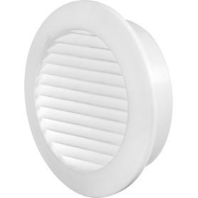 Решётка дверная вентиляционная D58 мм, цвет белый