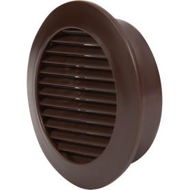 Решётка дверная вентиляционная D58 мм, цвет коричневый